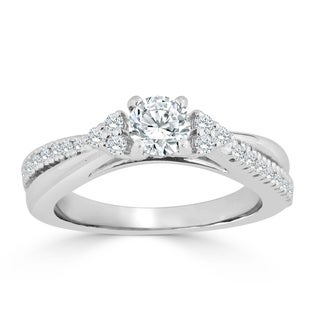 Auriya 14k Gold 3/4ct TDW Diamond Engagement Ring (H-I, I1-I2) - White H-I