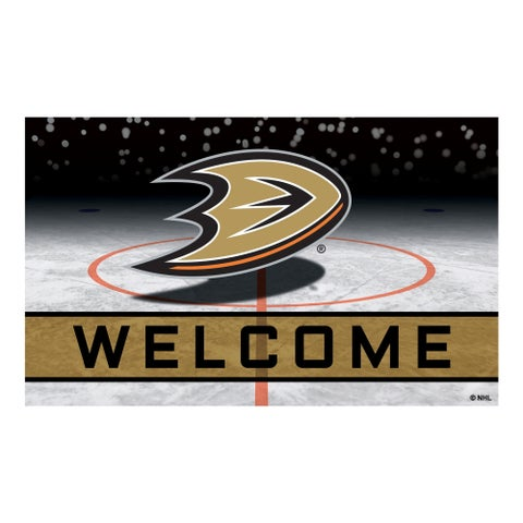 """NHL - Anaheim Ducks 18""""x30"""" Rubber Door Mat"""