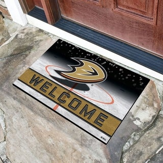 "NHL - Anaheim Ducks 18""x30"" Rubber Door Mat - Multi-color"