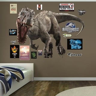 "Fathead Indominus Rex-Jurassic World Real Decals (W x H) 6'1"" x 4'7"" Wall Vinyl"