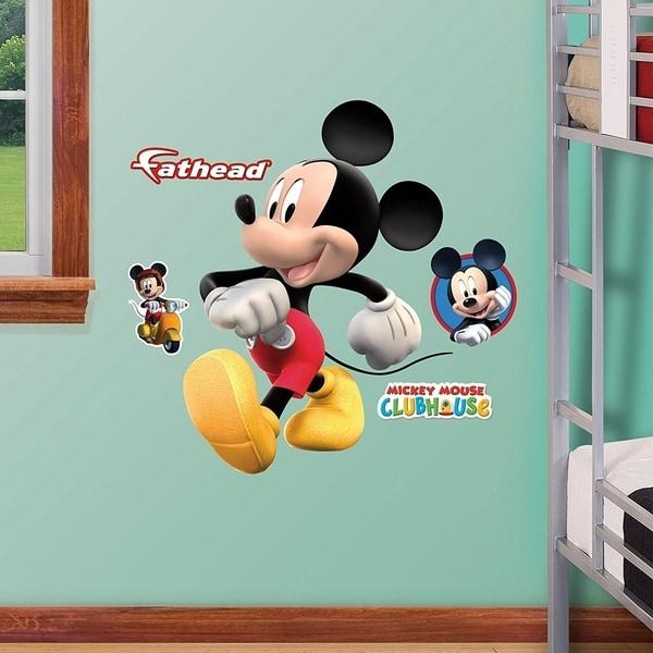 Shop FATHEAD Mickey Mouse Fathead Jr. Graphic Décor Wall ...