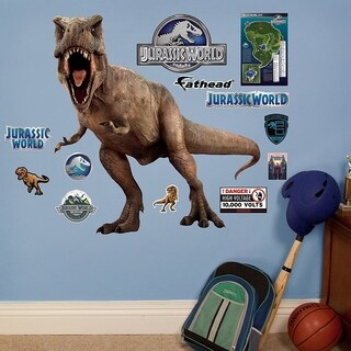 Fathead T-Rex-Jurassic World Junior Peel and Stick Decals Wall Vinyl