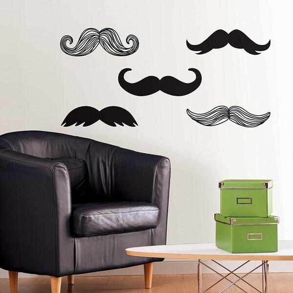 Shop Wall Pops Mustache Wall Art Decal Kit Wall Vinyl - On Sale ...