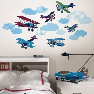 Wall Pops Vintage Airplanes Art Wall Vinyl