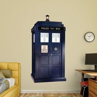 Fathead Peel and Stick Decals Doctor Who Tardis RealBig Collection Decal Wall Vinyl