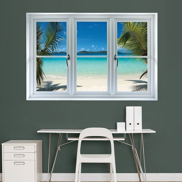 Fathead Wall Decal  Virgin Islands Beach Scenic Window  ... & Shop Fathead Wall Decal