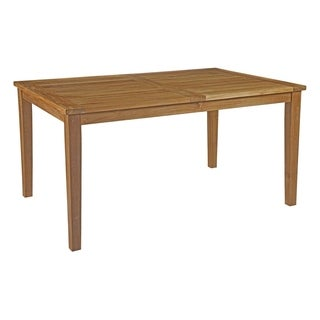 Captivating Modway Marina Teak Wood Outdoor Dining Table