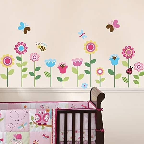 Wall Pops Garden Flowers Baby Nursery L Stick Sticker Decals Vinyl