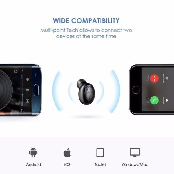 Shop Mpow Bluetooth Headphone, Wireless Mini Invisible