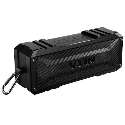 VTin Bluetooth 4.0 Premium Wireless Stereo Speaker with Dual-Driver, Strong Bass, Two Subwoofers, Built-in Microphone