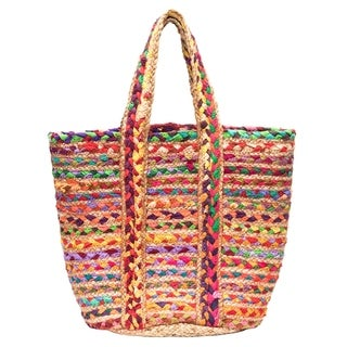 Handcrafted Chindi Blend Basket - Large (India)