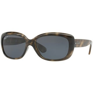 Ray-Ban Women's RB4101 Jackie Ohh Tortoise Frame Polarized Brown Gradient 58mm Lens Sunglasses