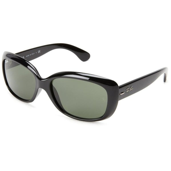 142b8d426a Shop Ray-Ban Women s RB4101 Jackie Ohh Black Frame Polarized Green 58mm  Lens Sunglasses - Free Shipping Today - Overstock - 17754292