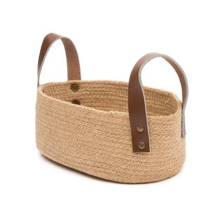 Handcrafted Jute Table Basket - Oval (India)