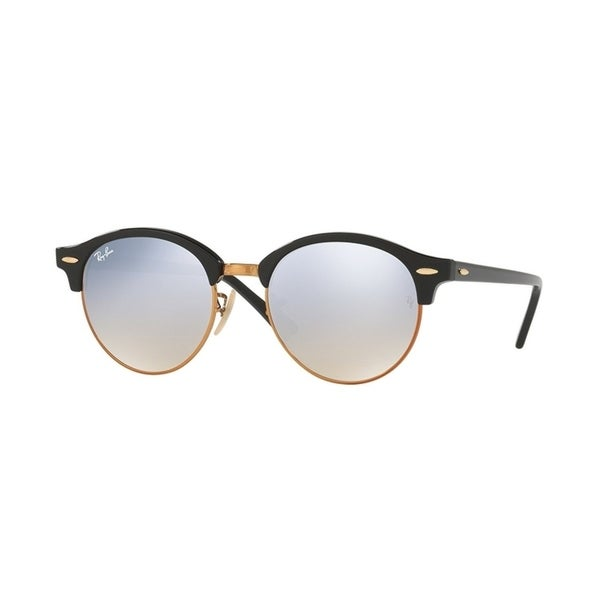 f6953ec831ff9 Shop Ray-Ban Men s RB4246 Clubround Black Frame Silver Gradient Flash 51mm Lens  Sunglasses - Free Shipping Today - Overstock - 17754327