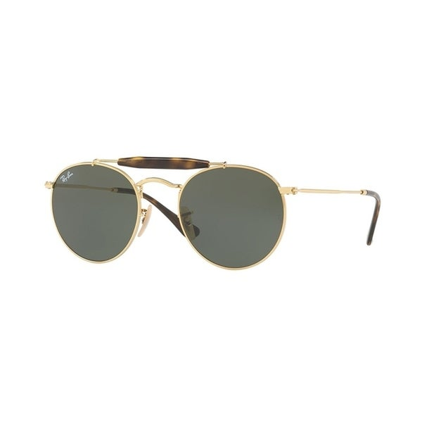 Ray-Ban Unisex RB3747 Gold Frame Green Classic 50mm Lens Sunglasses