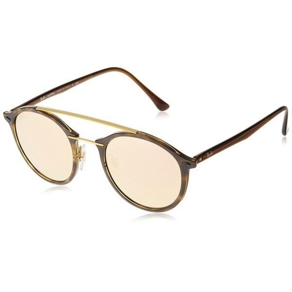 6385a278e94 Shop Ray-Ban Men s RB4266 Tortoise Brown Frame Copper Mirror 49mm ...