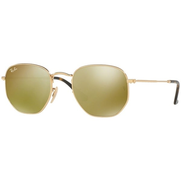 aa297868862db Ray-Ban Hexagonal RB3548N Gold Frame Yellow Flash 51mm Lens Sunglasses