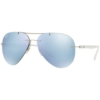 Ray-Ban Men's RB8058 Rimless Silver Mirror 59mm Lens Sunglasses