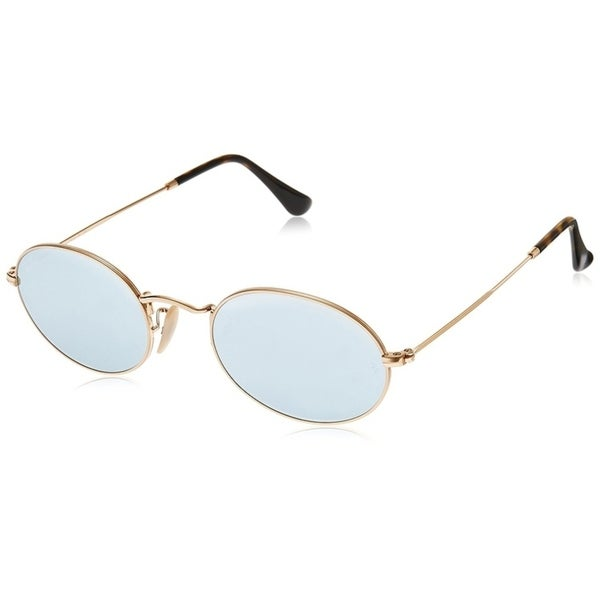 42b4945eaa Ray-Ban Unisex Oval RB3547N Gold Frame Silver Flash 48mm Lens Sunglasses
