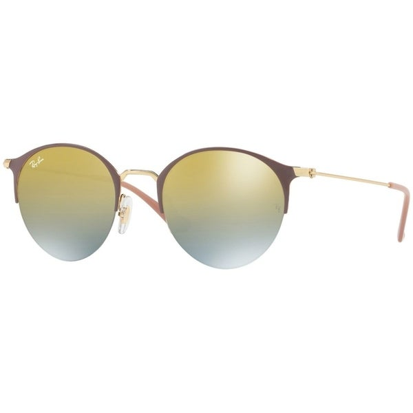 6c7a158094 Ray-Ban Unisex RB3578 Brown Gold Frame Green Gradient Mirror 50mm Lens  Sunglasses