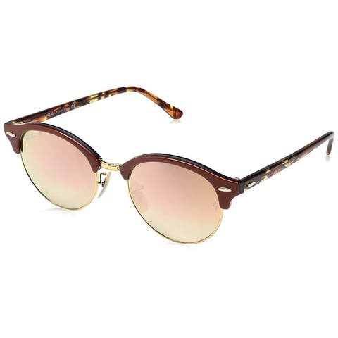Ray-Ban Unisex RB4246 Clubround Brown/Multi Frame Copper Gradient Flash 51mm Lens Sunglasses