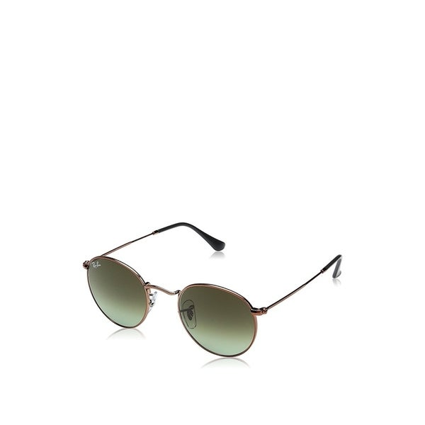 5d167fab48b Ray-Ban Unisex RB3447 Round Metal Bronze-Copper Frame Green Gradient 47mm  Lens Sunglasses