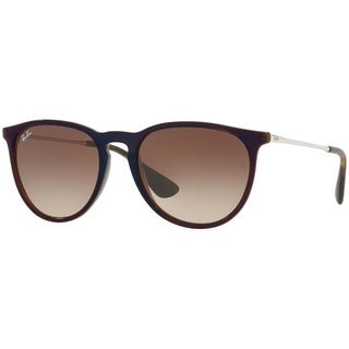 Ray-Ban Unisex RB4171 Erika Classic Brown/Silver Frame Brown Gradient 54mm Lens Sunglasses
