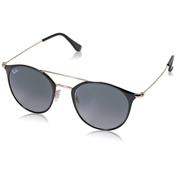 faf6113557c712 Ray-Ban Unisex RB3546 Black Gold Frame Grey Gradient 49mm Lens Sunglasses