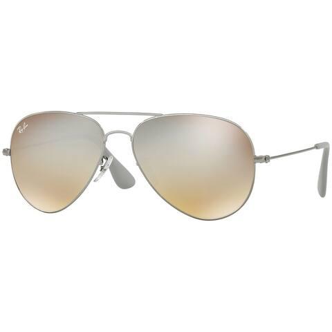 Ray-Ban Unisex RB3558 Gunmetal Frame Silver Gradient Flash 58mm Lens Sunglasses
