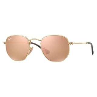 Ray-Ban RB3548N Hexagonal Gold Frame Copper Flash 54mm Lens Sunglasses