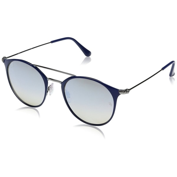 f72e37d14b Ray-Ban Unisex RB3546 Blue Gunmetal Frame Silver Gradient Flash 49mm Lens  Sunglasses
