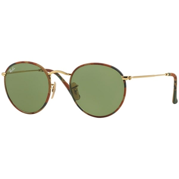 6b788061b9 Ray-Ban Unisex RB3447JM Round Camouflage Multi Gold Frame Green Classic 50mm  Lens Sunglasses