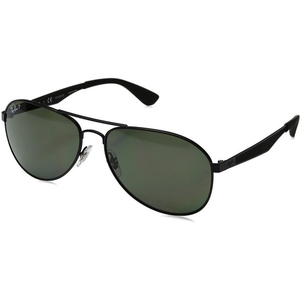 881c394935 Ray-Ban Men RB3549 Matte Black Frame Polarized Green 61mm Lens Sunglasses