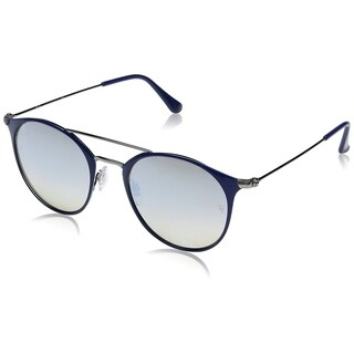 Ray-Ban Unisex RB3546 Blue/Gunmetal Frame Silver Gradient Flash 52mm Lens Sunglasses