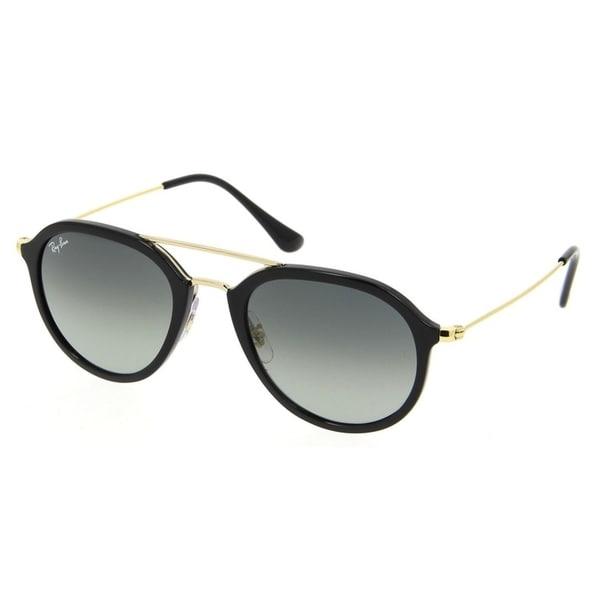 65ed99c0e6 Ray-Ban Unisex RB4253 Black Gold Frame Grey Gradient 53mm Lens Sunglasses