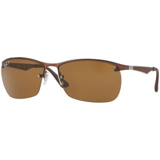 Ray-Ban Men's RB3550 Brown Frame Polarized Brown 64mm Lens Sunglasses