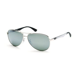 Ray-Ban Unisex RB8313  Silver Frame Silver Mirror 61mm Lens Sunglasses