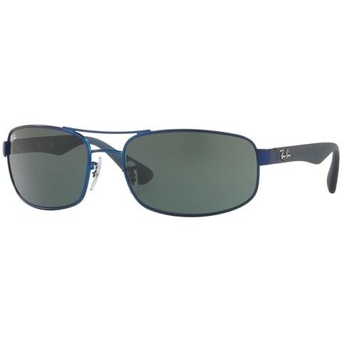 Ray-Ban Men's RB3445 Blue Frame Green Classic 61mm Lens Sunglasses