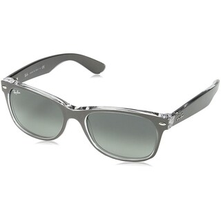 Ray-Ban Unisex RB2132 New Wayfarer Color Mix Gunmetal/Clear Frame Grey Gradient 55mm Lens Sunglasses