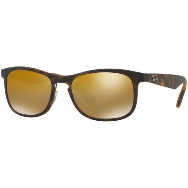 c1264f40ed Shop Ray-Ban Men s RB4263 Tortoise Frame Polarized Bronze Mirror Chromance  55mm Lens Sunglasses - Free Shipping Today - Overstock.com - 17754466