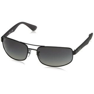 Ray-Ban Men's RB3445 Black/Grey Frame Grey Gradient 61mm Lens Sunglasses