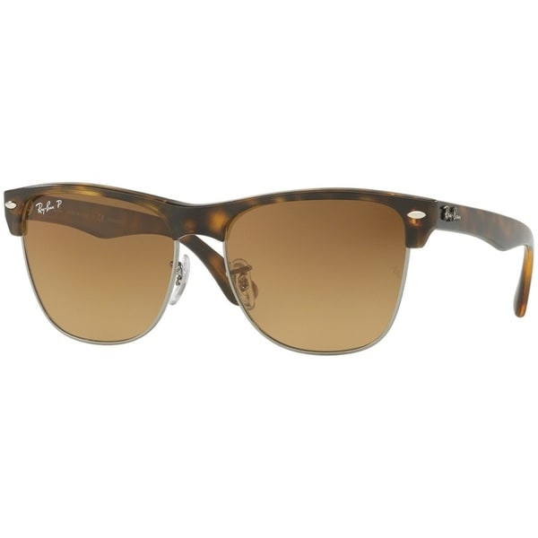 a89926ba05 Ray-Ban Men  x27 s RB4175 Clubmaster Oversized Tortoise Frame Polarized  Brown Gradient