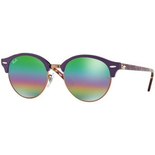 Ray-Ban Unisex RB4246 Violet Frame Green Rainbow Flash 51mm Lens Sunglasses
