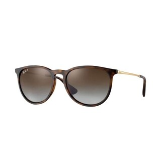Ray-Ban Unisex RB4171 Erika Tortoise/Gold Frame Polarized Brown Gradient 54mm Lens Sunglasses