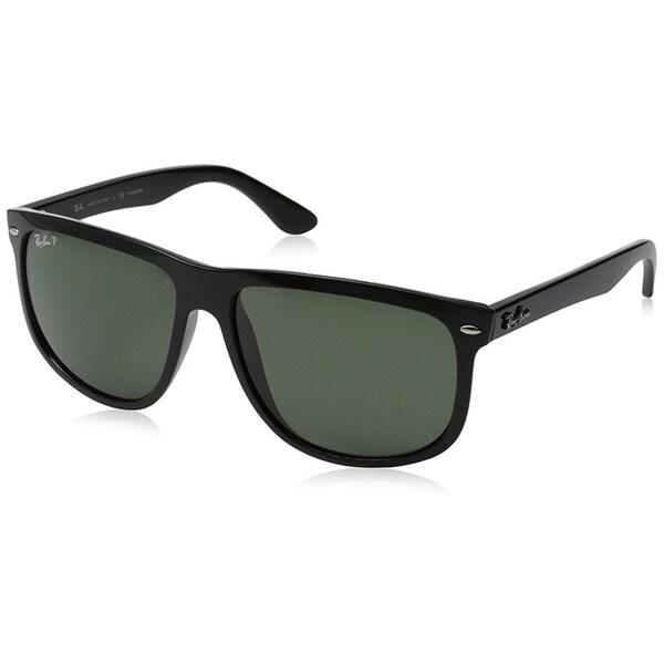 Ray-Ban Men's RB4147 Black Frame Polarized Green 60mm Lens Sunglasses