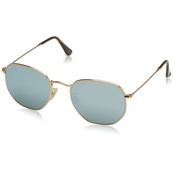 909cf7699730f Ray-Ban Unisex RB3548N Hexagonal Gold Frame Silver Flash 54mm Lens  Sunglasses