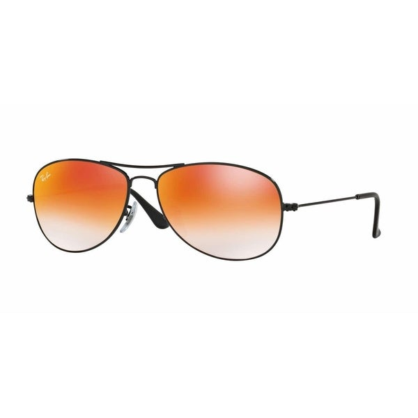 7b721abced Ray-Ban Unisex RB3362 Cockpit Black Frame Orange Gradient Flash 59mm Lens  Sunglasses