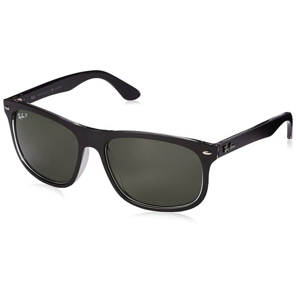 c7600c62e6 Ray-Ban Men  x27 s RB4226 Black Frame Polarized Green 59mm Lens Sunglasses