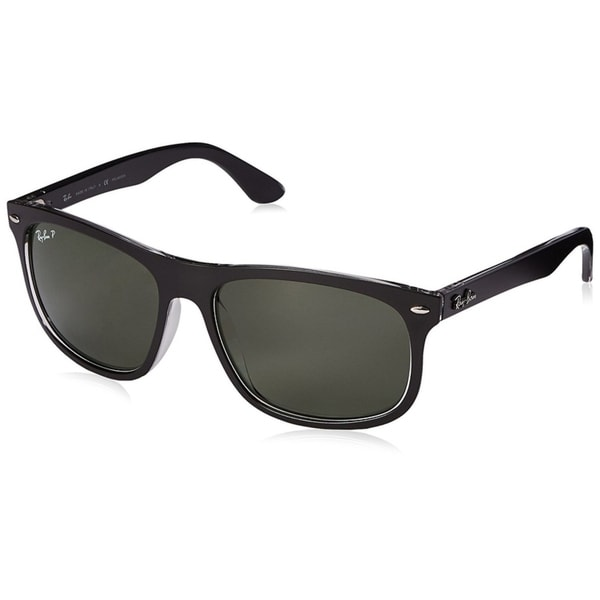 ad2f956bdb Ray-Ban Men  x27 s RB4226 Black Frame Polarized Green 59mm Lens Sunglasses